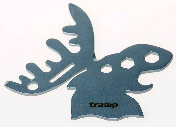 Брелок туристический Tramp Elk, карта-мультитул, TRA-231, серый мех лося wapsi elk body hair mane