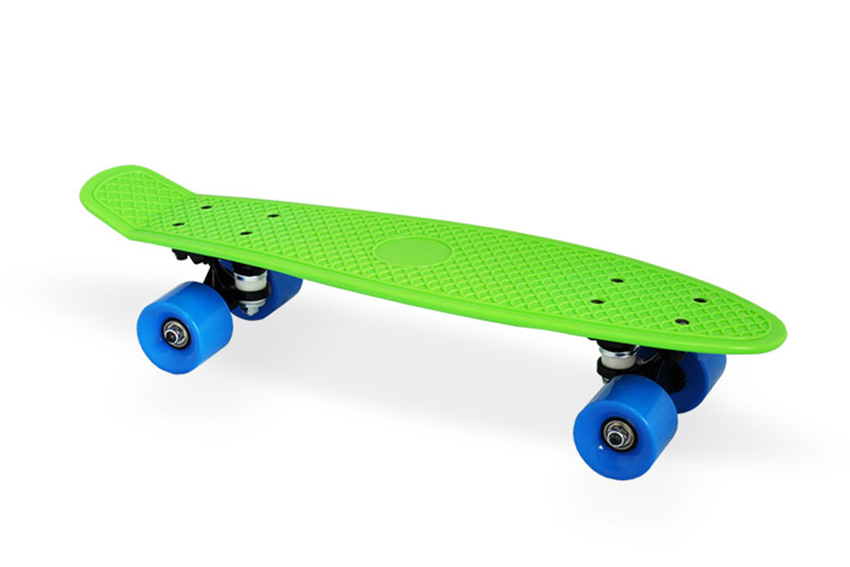 Скейтборд Moove&Fun Скейт пластиковый 22х6-1, зеленый, зеленый скейтборд пластиковый tempish buffy star цвет зеленый