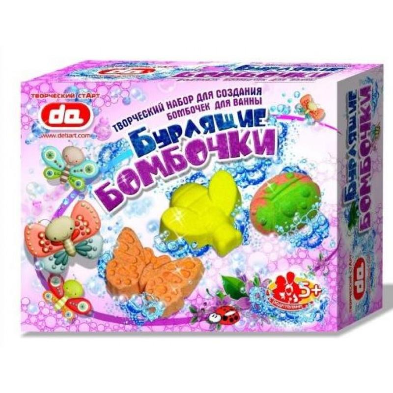 Набор Бурлящие бомбочки для ванны Дети Арт Насекомые, 17004, разноцветный
