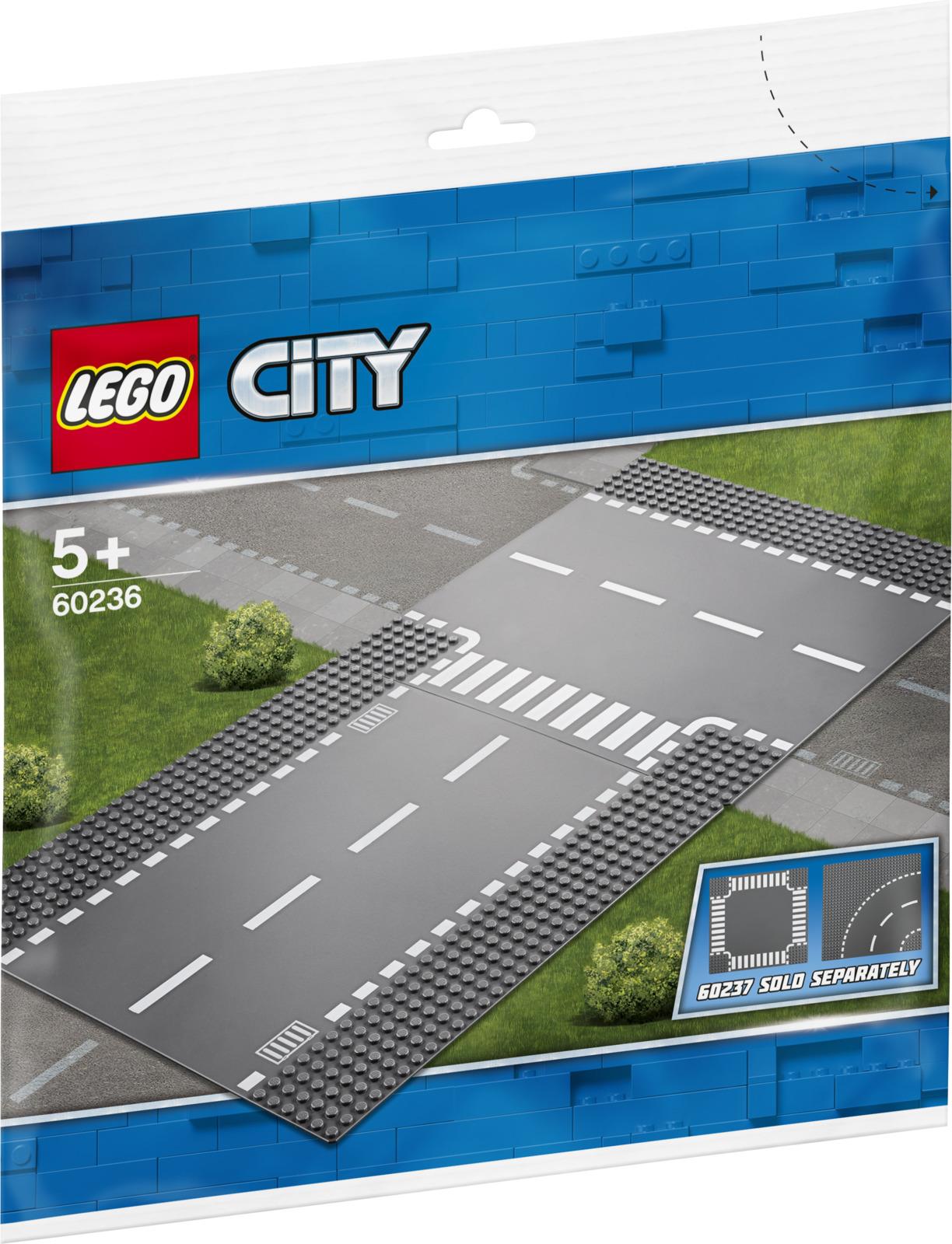 LEGO City 60236 Прямой и Т-образный перекресток Конструктор lego city 60236 конструктор лего город прямой и т образный перекрёсток