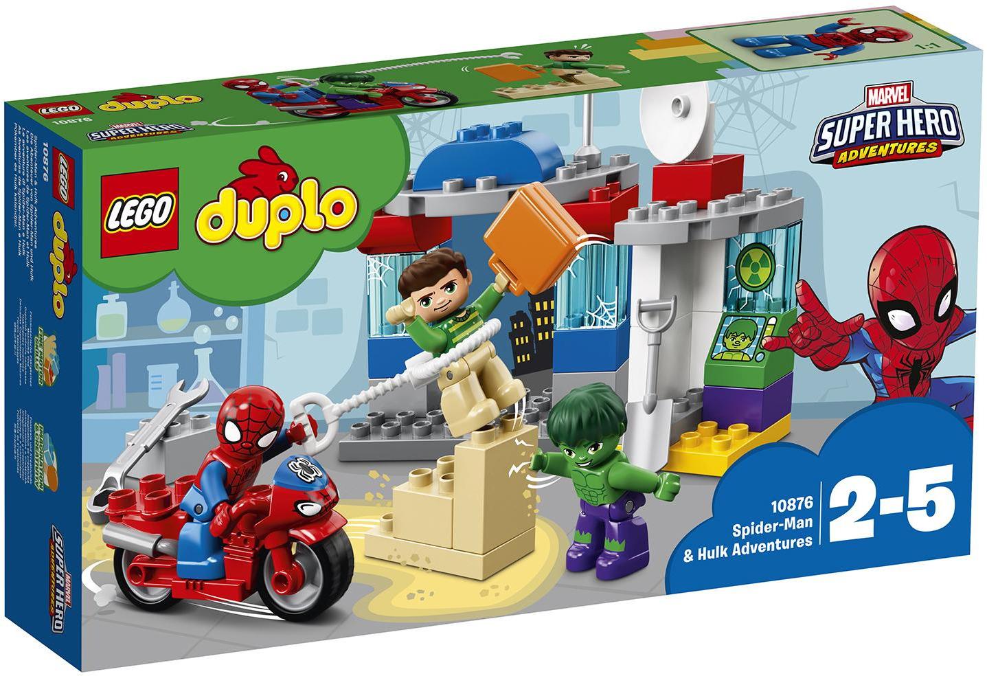 LEGO DUPLO Super Heroes Marvel 10876 Приключения Человека-паука и Халка Конструктор lego конструктор джуниорс убежище человека паука
