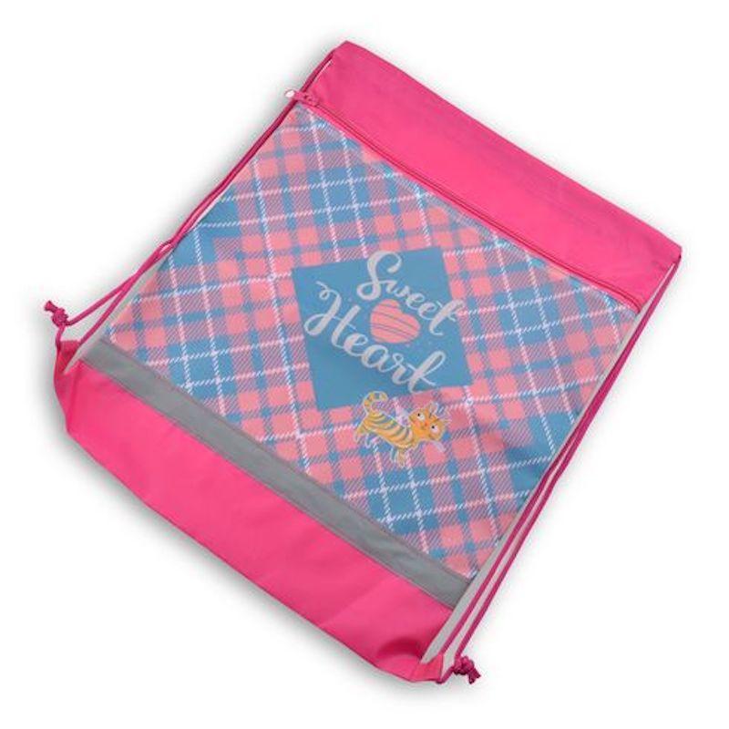 Сумка-мешок для сменной обуви, Sweet heart, 41,5*34 см, BG, МО2_пэ 4594 сумка мешок rich homsu сумка мешок rich page 11