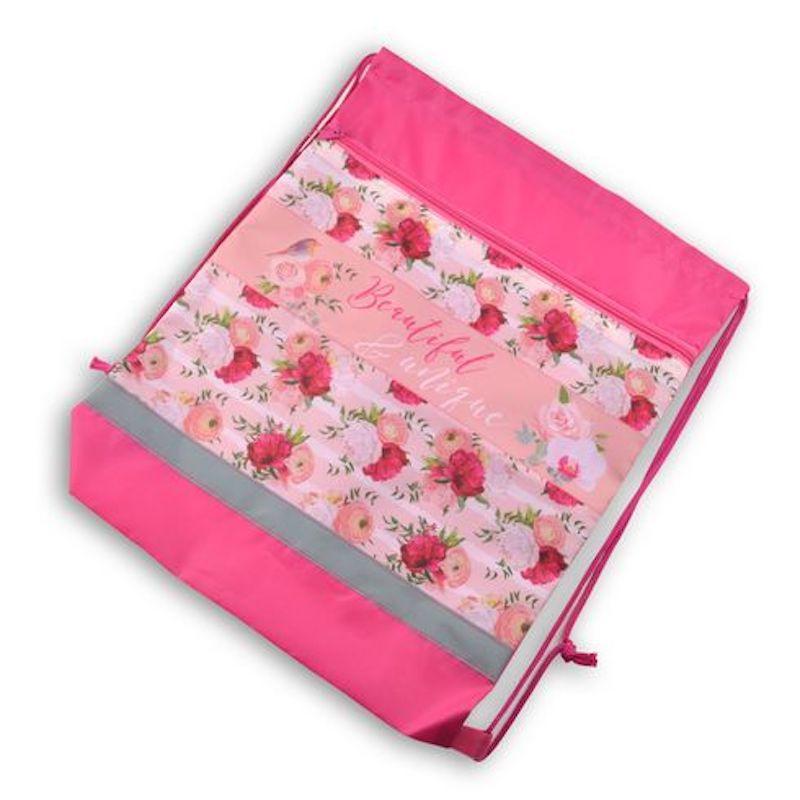 Сумка-мешок для сменной обуви, Pink dream, 41,5*34 см, BG, МО2_пэ 4596 мешок для обуви zoobles разм 43х32 см с доп карманом на молнии zb ass4306 4