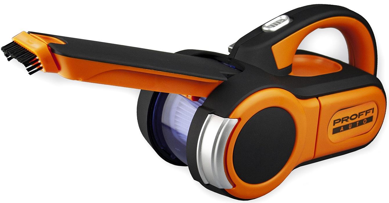 Ручной пылесос PROFFI Пылесос автомобильный PA0327 + запасной фильтр, оранжевый Proffi