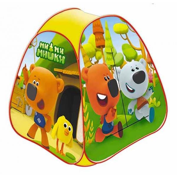 Палатка детская игровая МИМИМИШКИ в сумке, Играем вместе палатка для игр играем вместе мимимишки красный