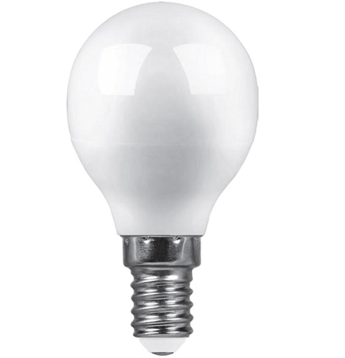 Лампочка Saffit Шар, E14 лампочка saffit e27 a65 25w 4000k 230v sba6525 55088