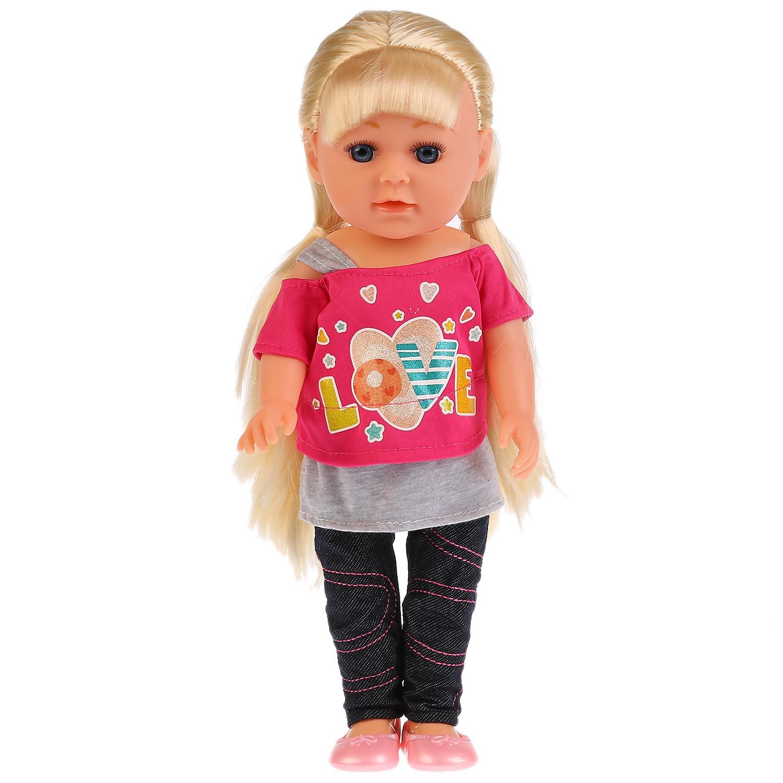 Кукла Карапуз функциональная ТМ Карапуз. Алина 36см, пьет и писает, озвученная, с набором одежды