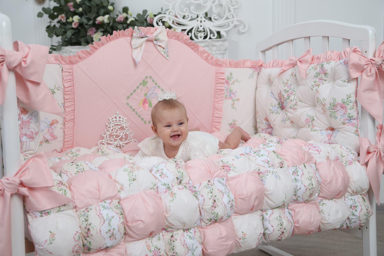 Комплект в кроватку Dream Royal Лесные феи, розовый