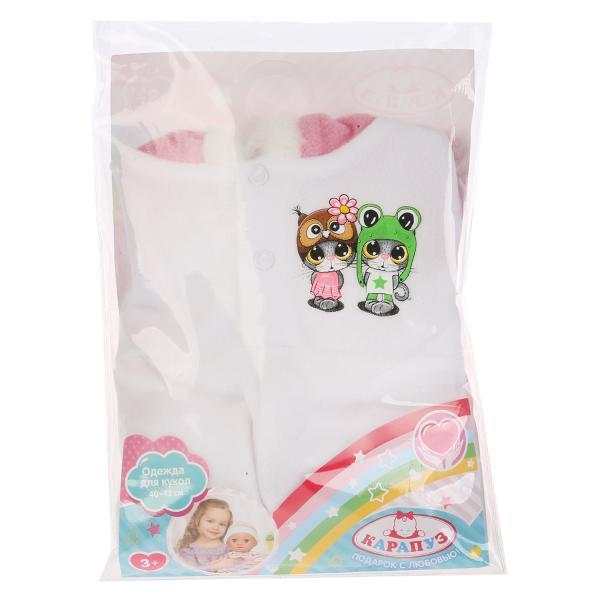 Одежда для кукол Карапуз 40-42см,267432, теплый комбинезон на капюшоне котята куклы и одежда для кукол карапуз одежда для кукол теплый комбинезон hello kitty