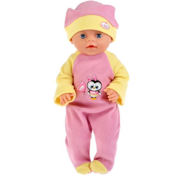 Одежда для кукол Карапуз 40-42см, теплый комбинезон и шапочка пингвиненок куклы и одежда для кукол карапуз одежда для кукол теплый комбинезон hello kitty