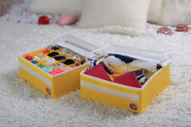 Органайзер для белья (2 шт.) Vintage Yellow с крышками Trendyco В10ж комплект нижнего белья dreamgirl kly 10423 1