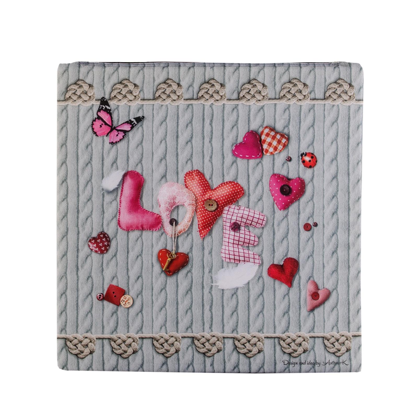 Подушка на стул Gift'n'Home Сидушка, SEAT -35 Love Hearts, серый