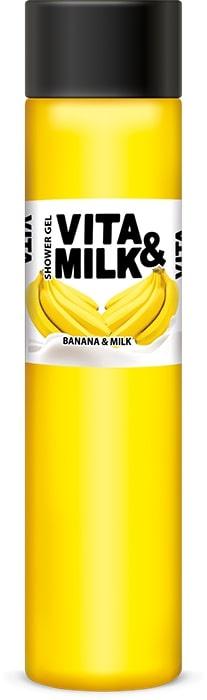 Гель для душа Vita&Milk Банан и молоко 350 мл, 8000 брусья разборные romana дск во 92 71 490 01 20 лимон