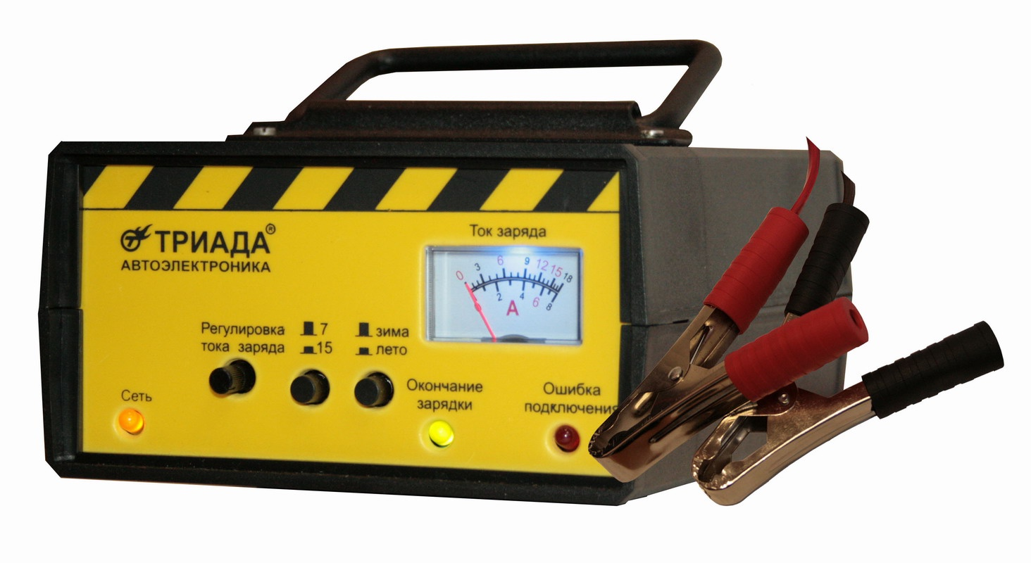 """Профессиональное мощное импульсное зарядное устройство Триада """"Триада-100 ЗУ 7/15А"""", 06427"""