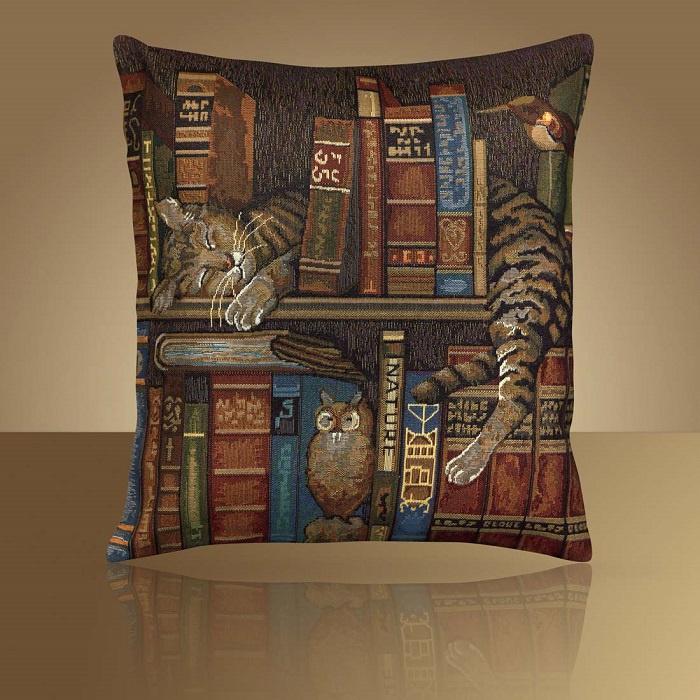 Чехол декоративный Библиотекарь 50*50 на молнии декоративные подушки мток декоративная наволочка тройка 50х50