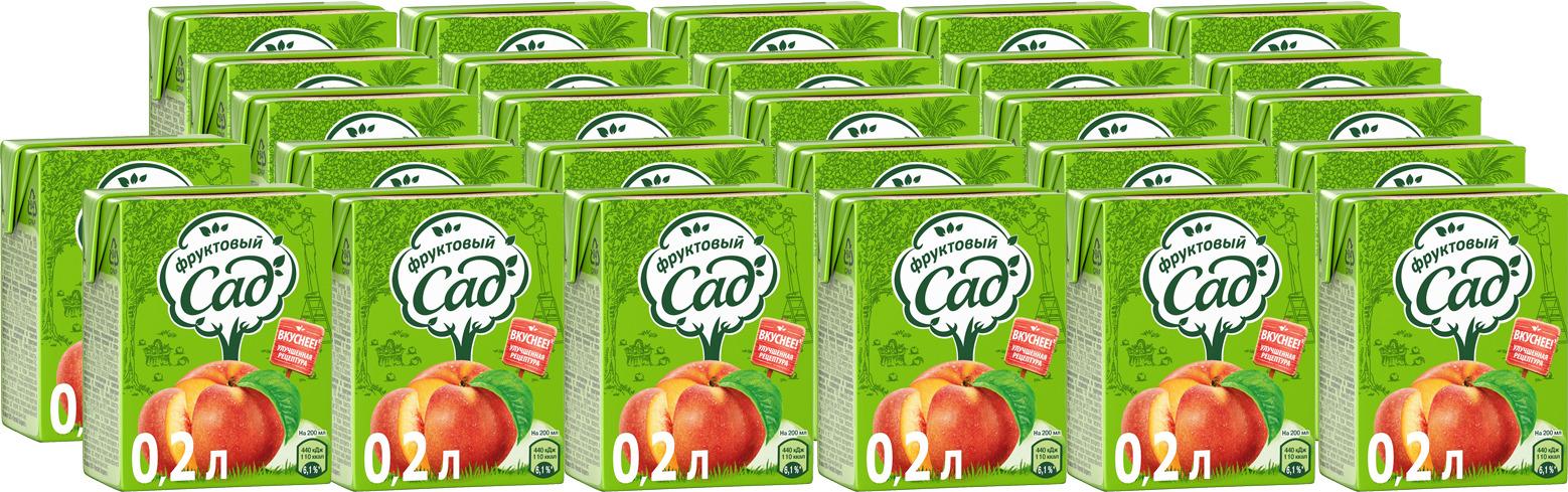 Нектар Фруктовый Сад Персик-Яблоко, с мякотью, 200 мл по 27 шт фруктовый сад яблоко нектар 0 2 л