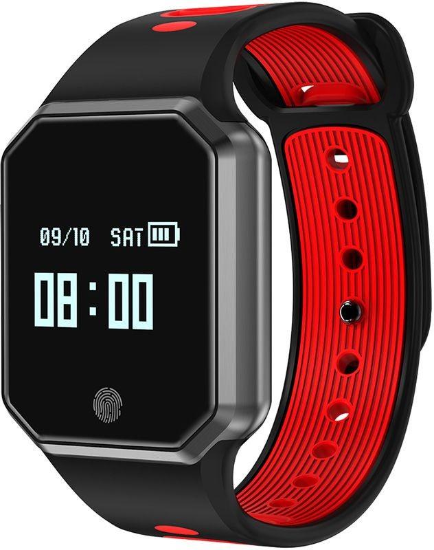 Умный фитнес-браслет ZDK QW11 4704, красный умный фитнес браслет zdk f3 3393 черно красный page 3 page 3