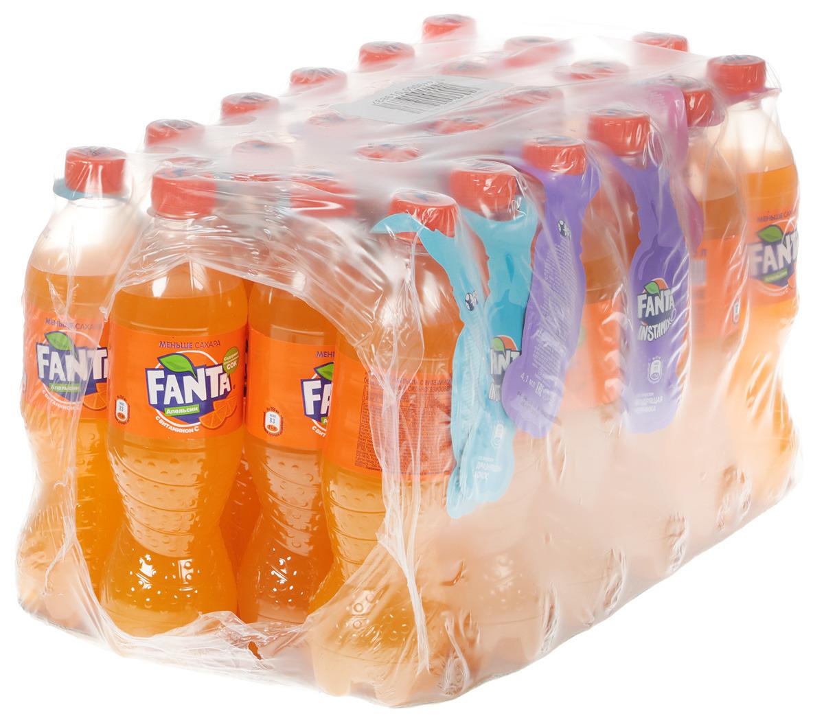 """Напиток сильногазированный Fanta """"Апельсин"""", 24 х 0.5 л"""