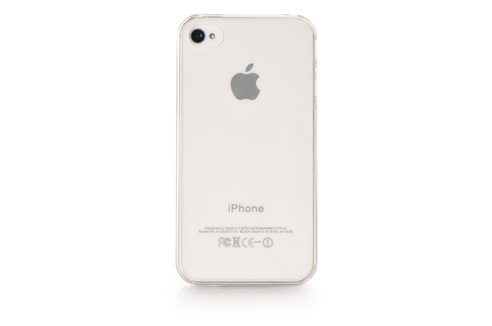 Чехол накладка iPhone 4/4S пластик прозрачный