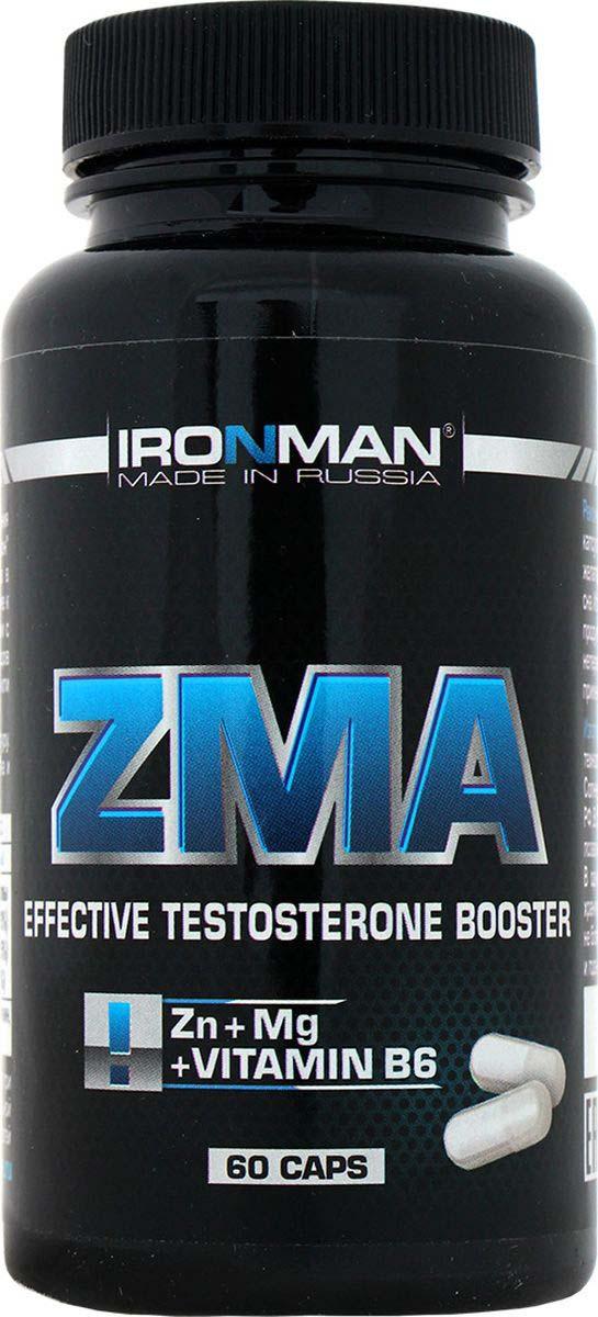 ZMA Ironman Цинк-магний аспартат, 60 капсул zma для потенции