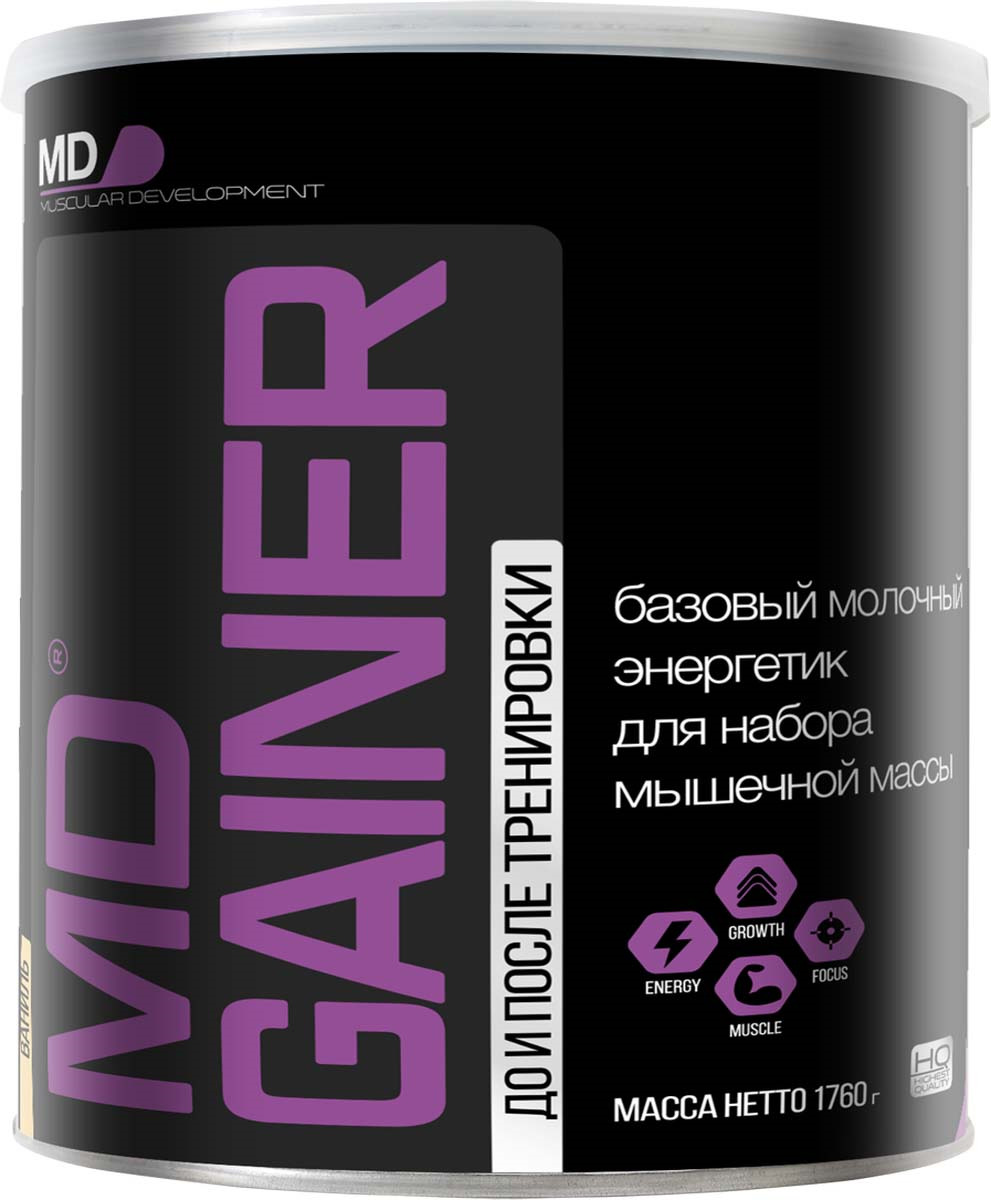 Гейнер MD Gainer, ваниль, 1,76 кг