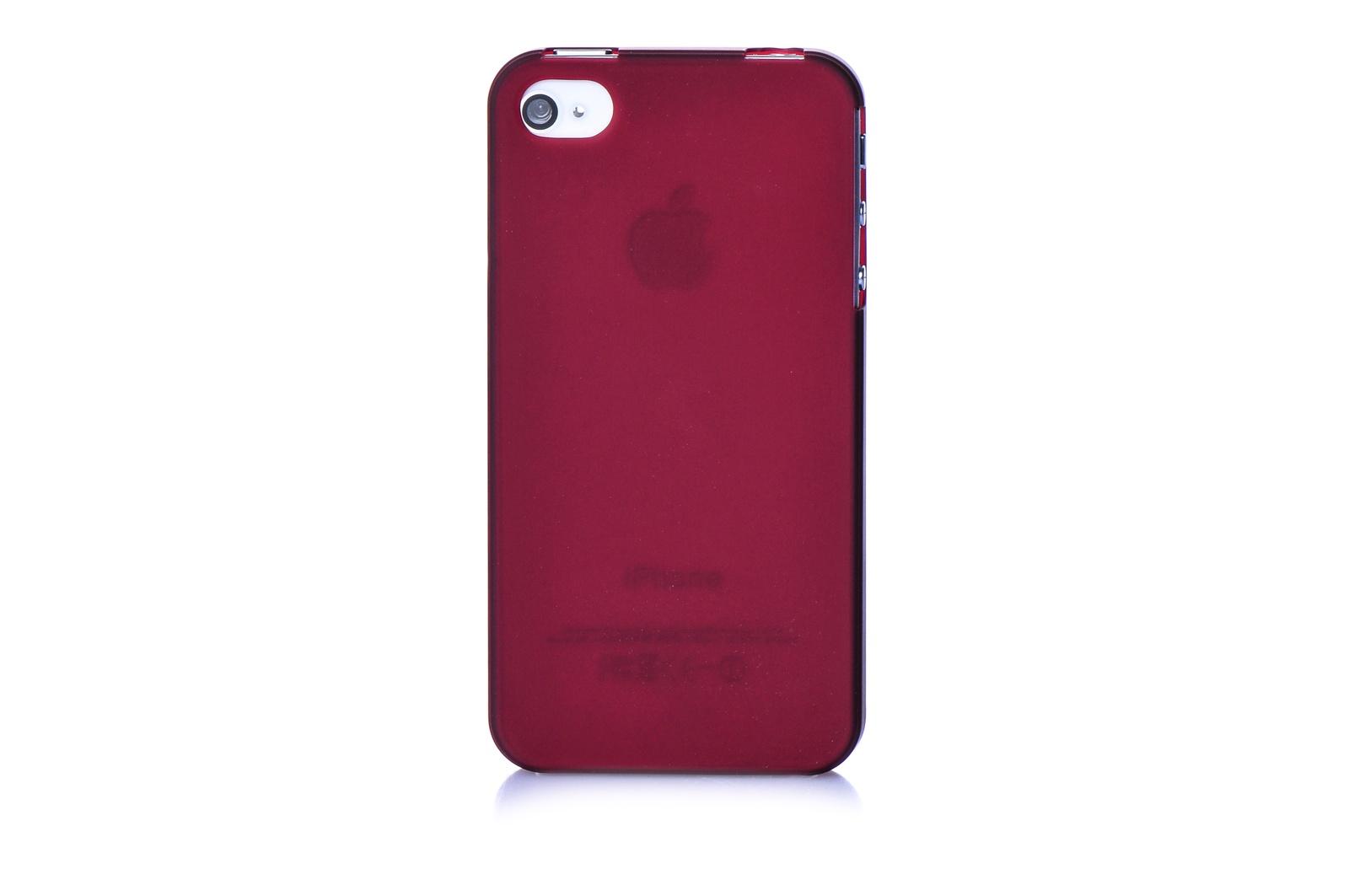 Чехол накладка iPhone 4/4S Xinbo бордовый