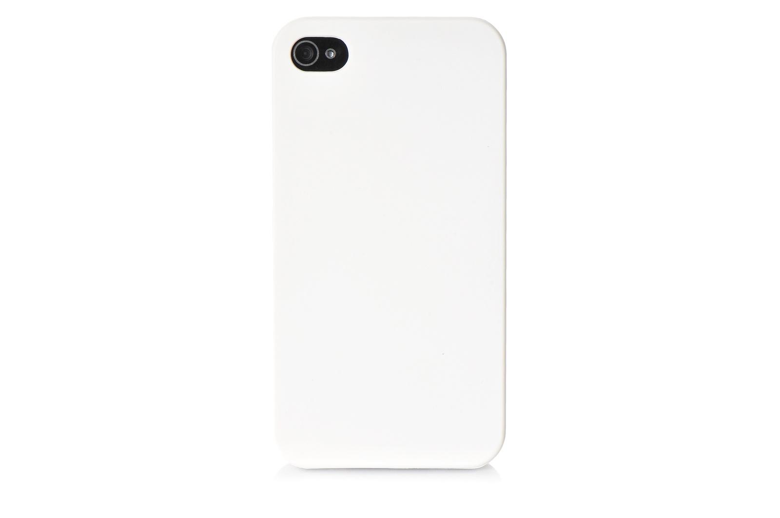Чехол для сотового телефона No name Чехол накладка iPhone 4/4S пластик soft touch белый
