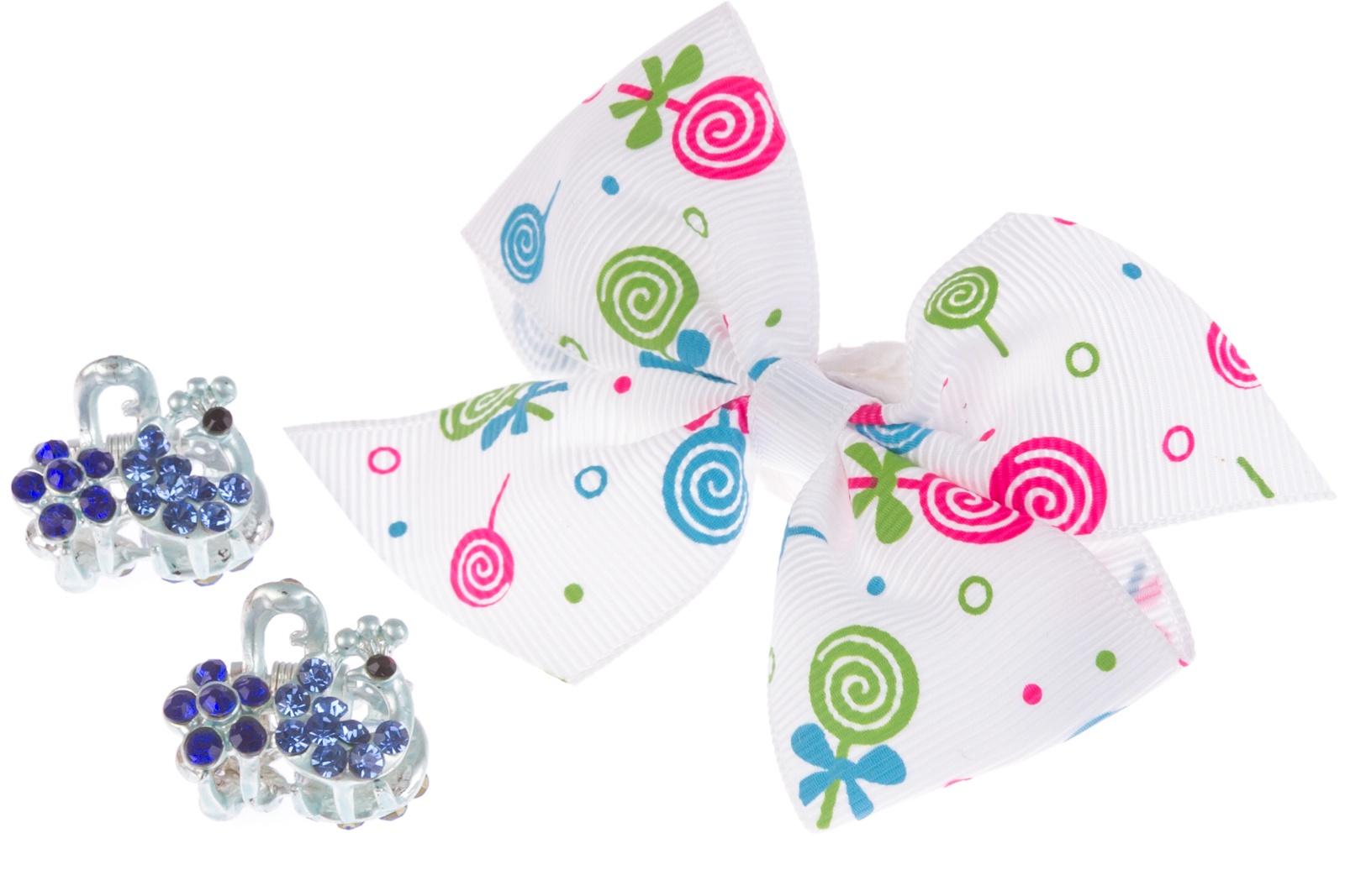 Набор аксессуаров для волос Зажим для волос крабы, белый, голубой homephilosophy держатели для книг soomi набор из 2 х шт белые керамика 17х11х15 см