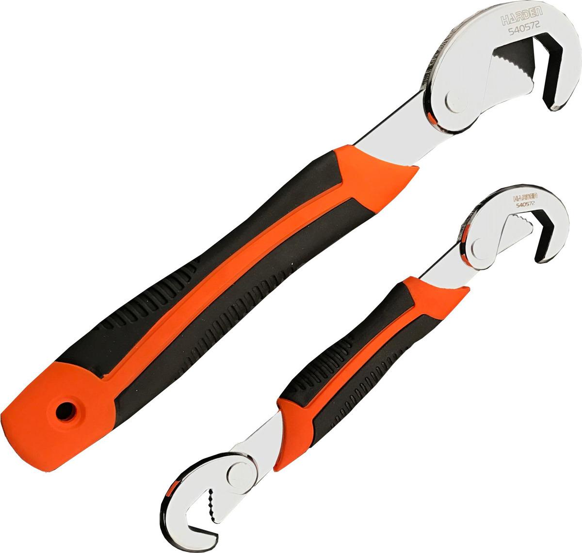 Ключ самозажимной Harden, 540572, универсальный, усиленный, 9-23 мм шпатель harden 620204 профессиональный усиленный 100 мм