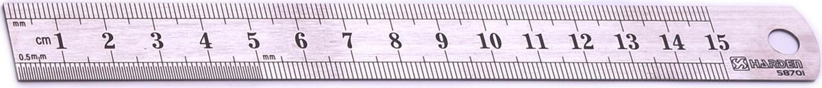 Линейка измерительная Harden, 580701, 15 см
