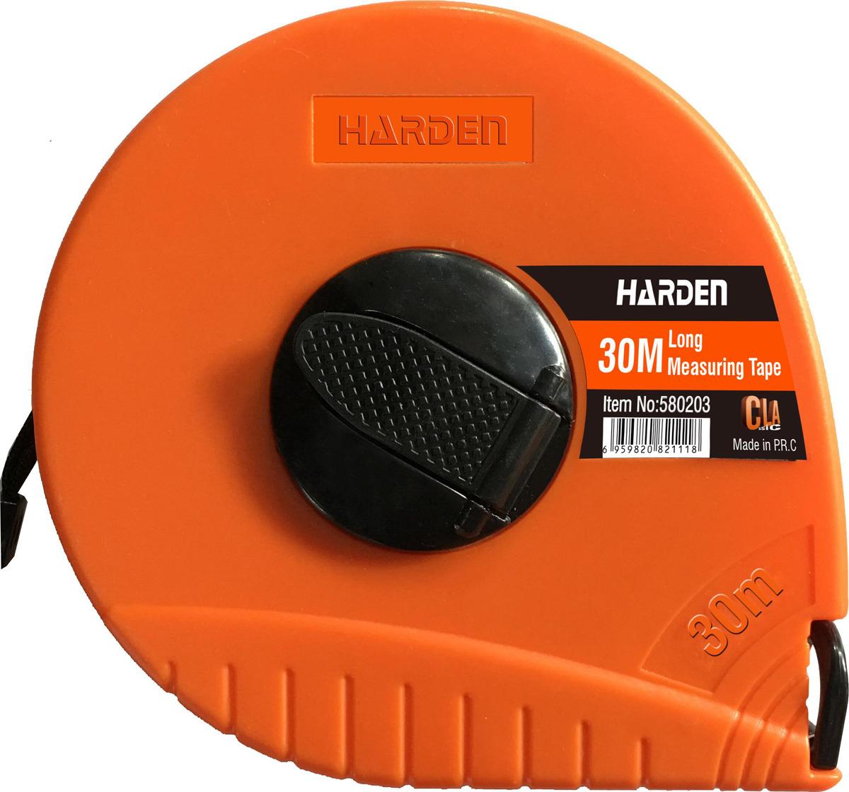 купить Рулетка геодезическая Harden, 580203, с фиберглассовой лентой и закрытым корпусом, 30 м недорого