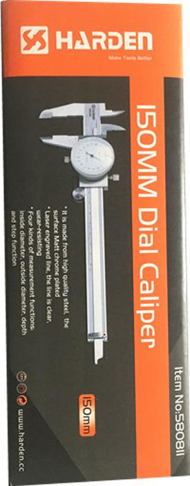 Штангенциркуль Harden, 580811, точность 0,02 мм, 15 см