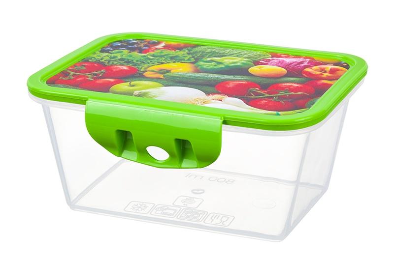 Контейнер пищевой Violet прямоугольный, 811405, зеленый контейнер пищевой elff decor цвет зеленый 800 мл