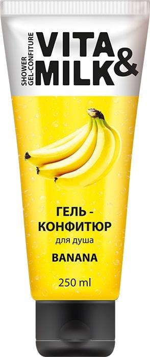 Гель для душа Vita&Milk Банан, 4220 гель для душа vita
