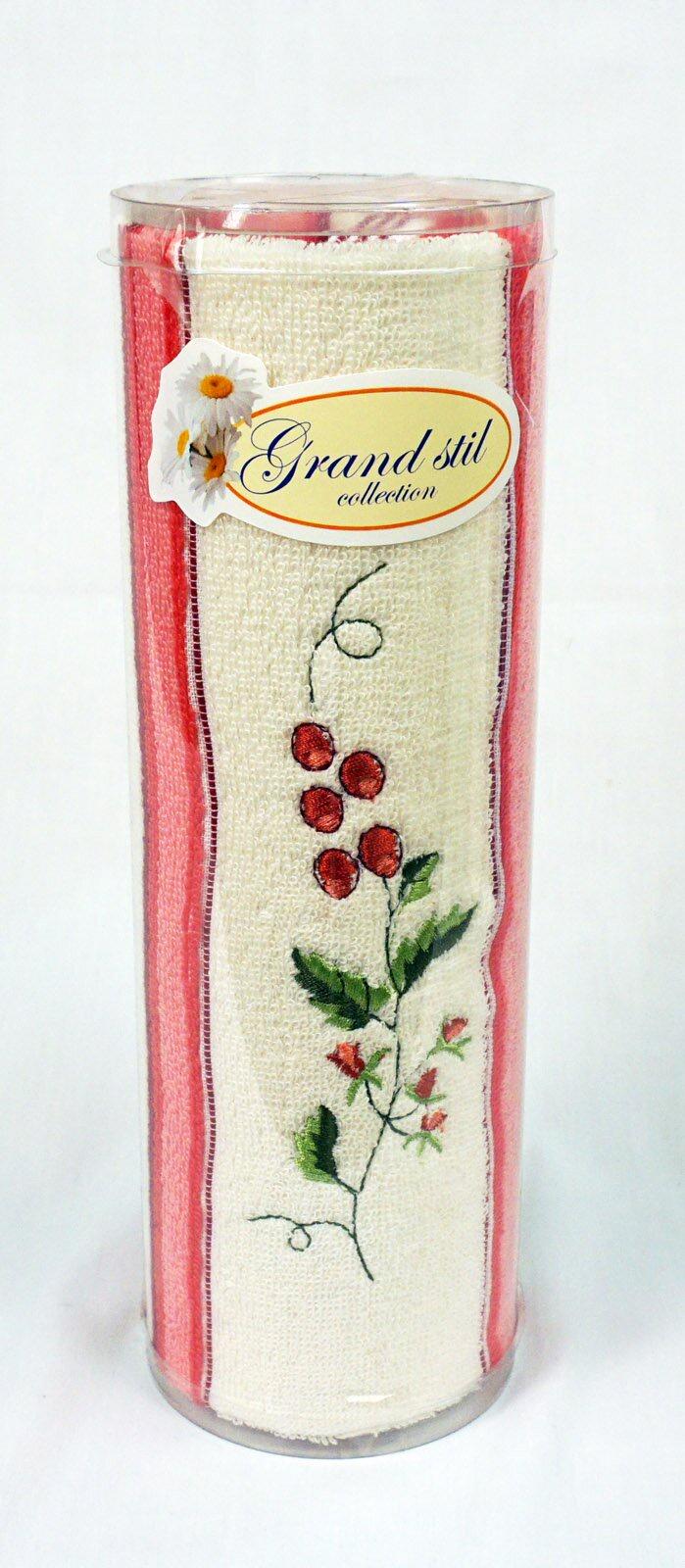 Полотенце для лица, рук или ног Grand Stil Витаминка с вышивкой , размер 40*70, 11-93t, розовый Grand Stil