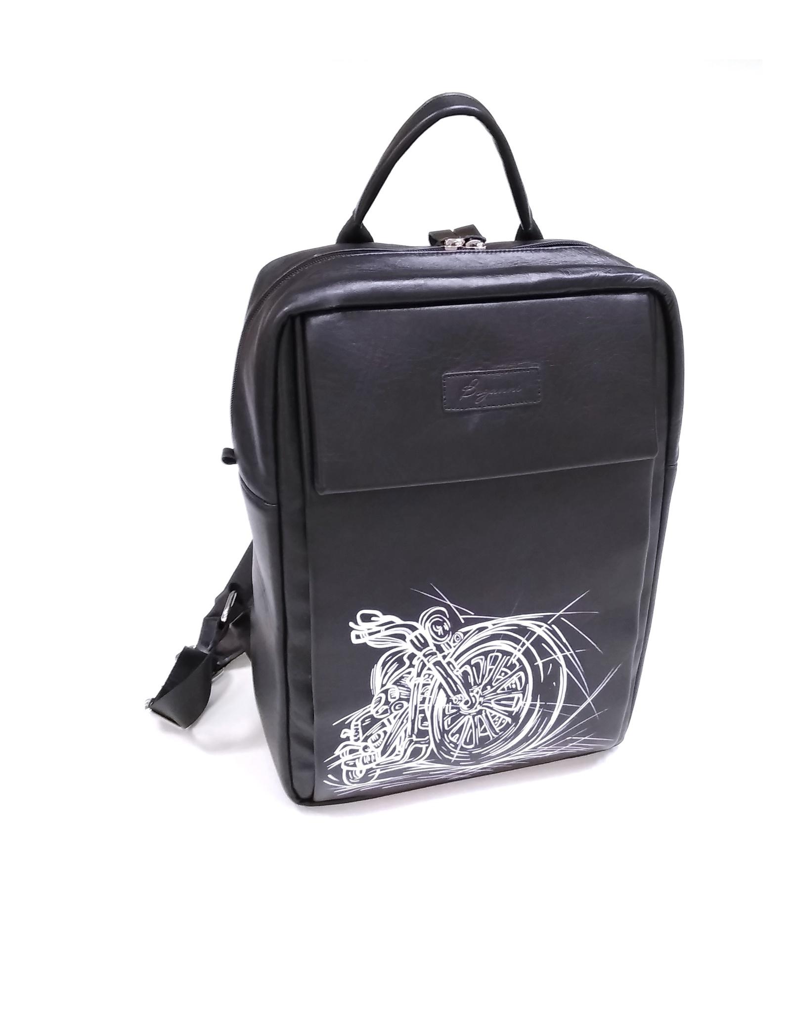 Рюкзак Autopremium Мужской с ручной росписью Мотоцикл, черный рюкзак мужской quiksilver everydaypostemb m eqybp03501 bng0 королевский синий