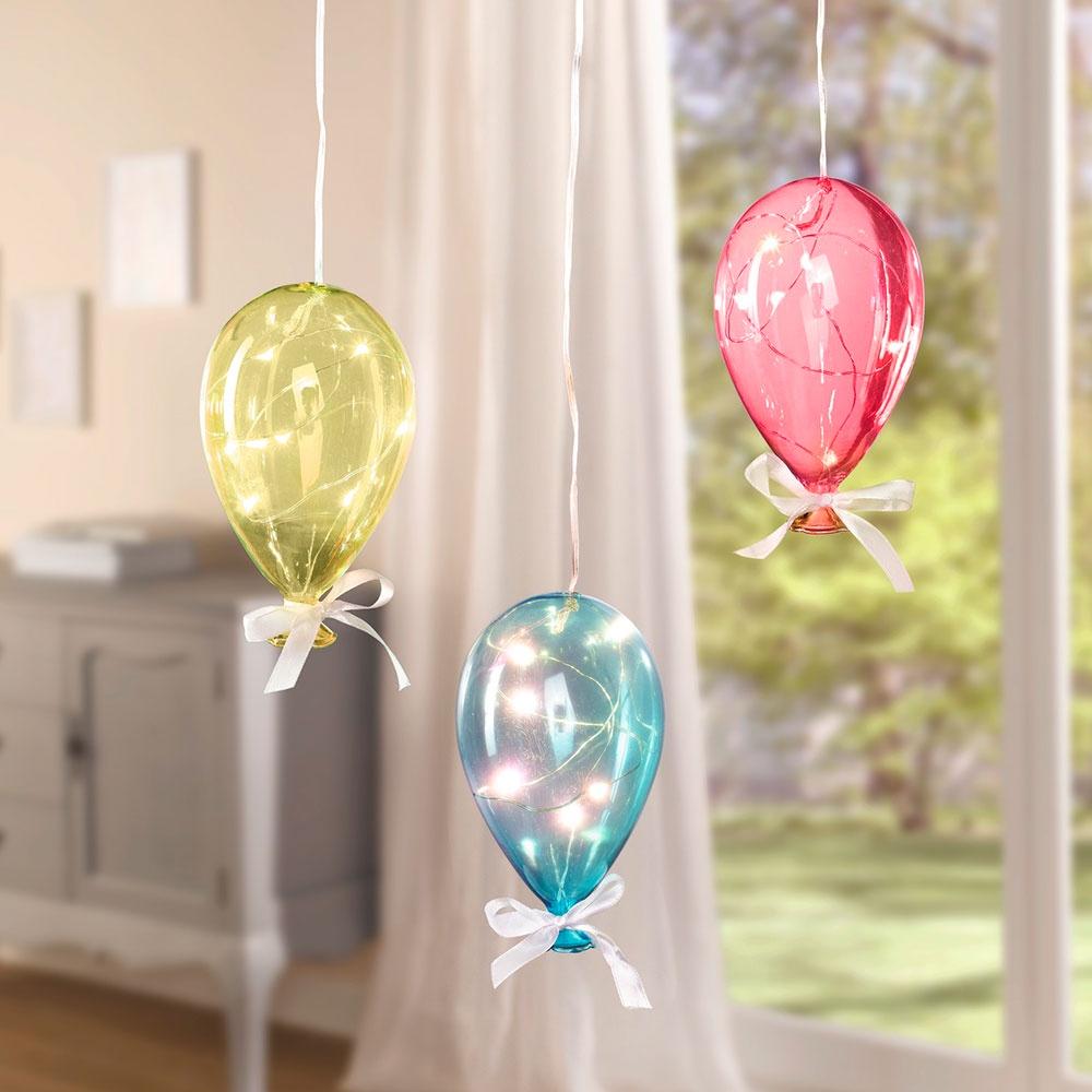 """Подвесные украшения со светодиодной подсветкой """"Шары"""", 3 штуки"""
