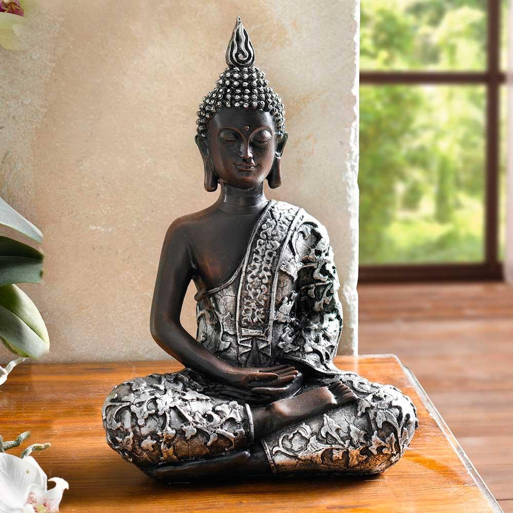 Фигурка декоративная ХИТ - декор Фигурка декоративная ХИТ - декор Декоративная фигура Индийский Будда, 05760, 05760 декоративная фигура антилопы global views