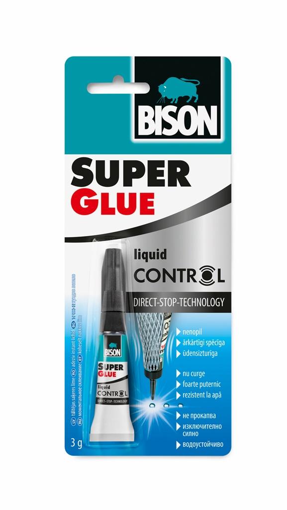 цена на Монтажный клей Bison Super Glue Control с Дозатором 3гр, 6311790
