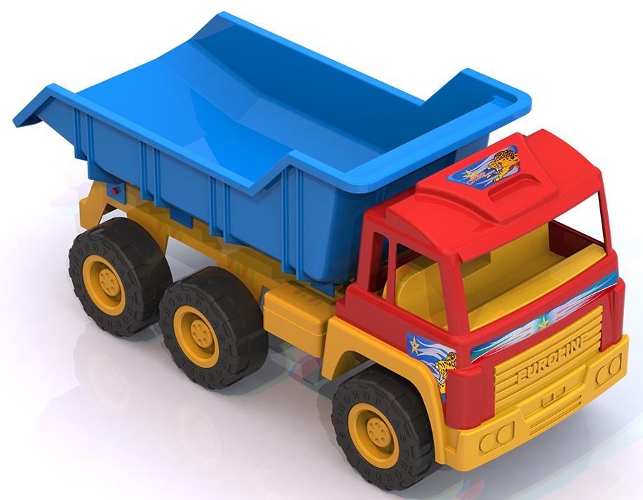 Машинка-игрушка Нордпласт СамосвалНордпласт,431627/, 431627/_Мультколор синий431627/_МультколорЯркая надежная машина на 6 колесах на металлических осях с вместительным кузовом и красочной кабиной. Без нее просто не обойтись на стройке! Устойчивые рельефные колеса и крепкий кузов позволяют выдержать достаточную нагрузку и перевезти игрушки или стройматериалы в пункт назначения. Кузов поднимается и опускается, внутрь салона можно поместить фигурку водителя. Машинка знакомит ребенка с различными видами техники, их особенностями и принципом действия, развивают мелкую моторику, воображение, цветовое восприятие. *безопасный прочный пластик, четкая деталировка, яркие цвета, надежное крепление подвижных деталей, вместительный кузов, размер 66*26*30 см