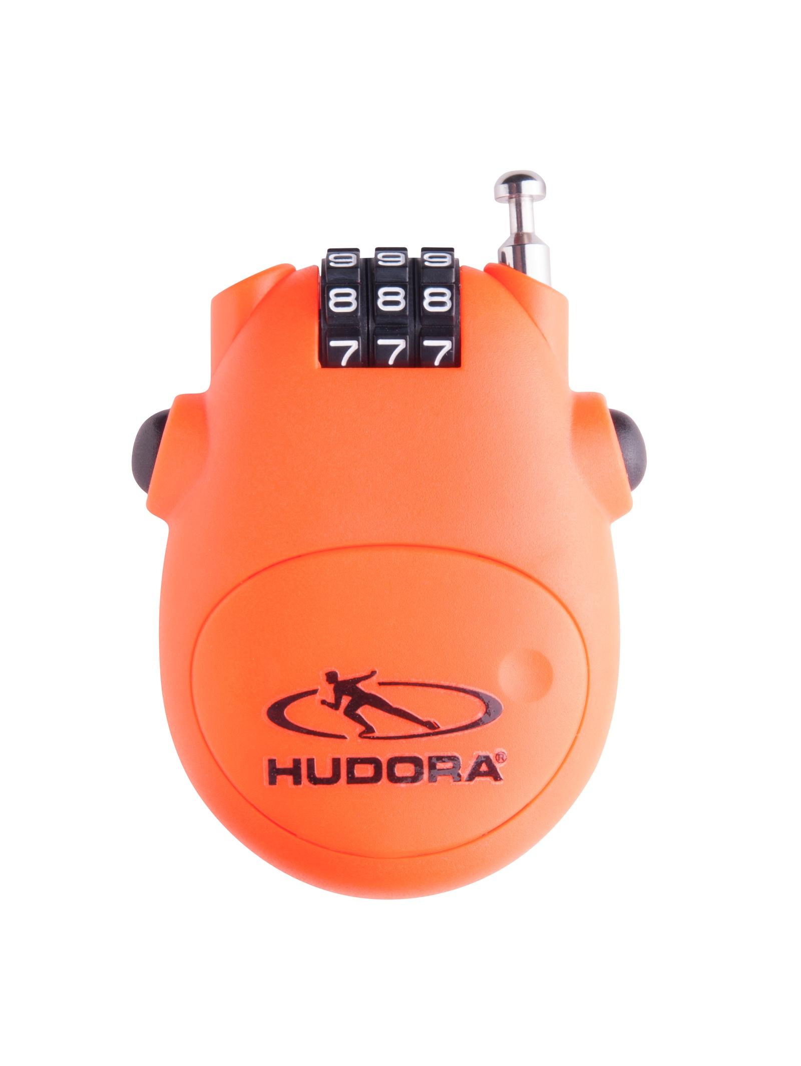 Велозамок кодовый Hudora на тросу, 14492
