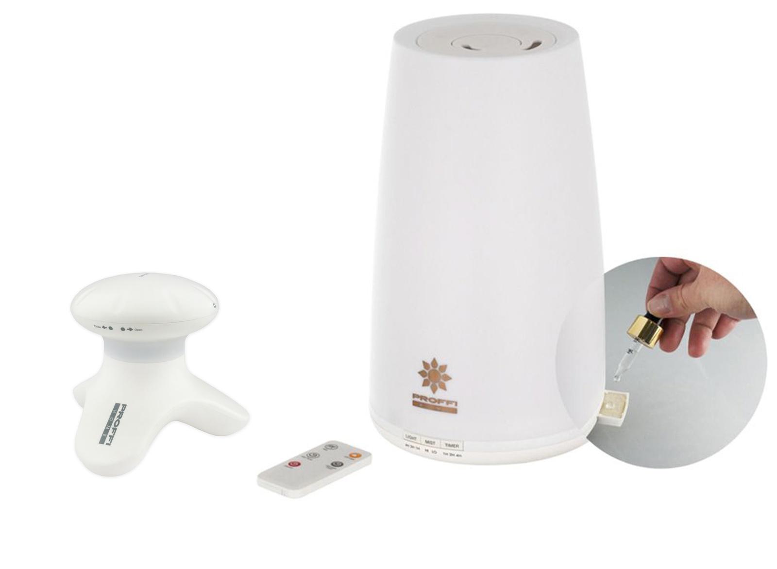 лучшая цена Массажный прибор PROFFI Relax вибрационный на батарейках и увлажнитель воздуха с LED подсветкой