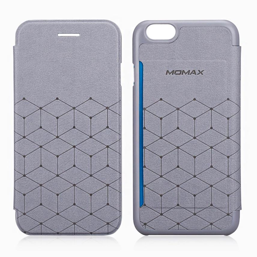 Чехол для сотового телефона Momax Elite Flip Diary для iPhone 6/6S Plus, серый стоимость