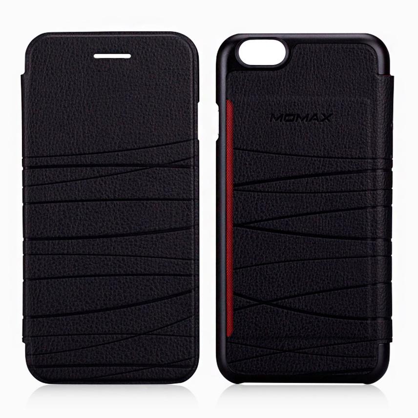 Чехол для сотового телефона Momax Flip Diary Elite для iPhone 6/6S Plus, черный стоимость