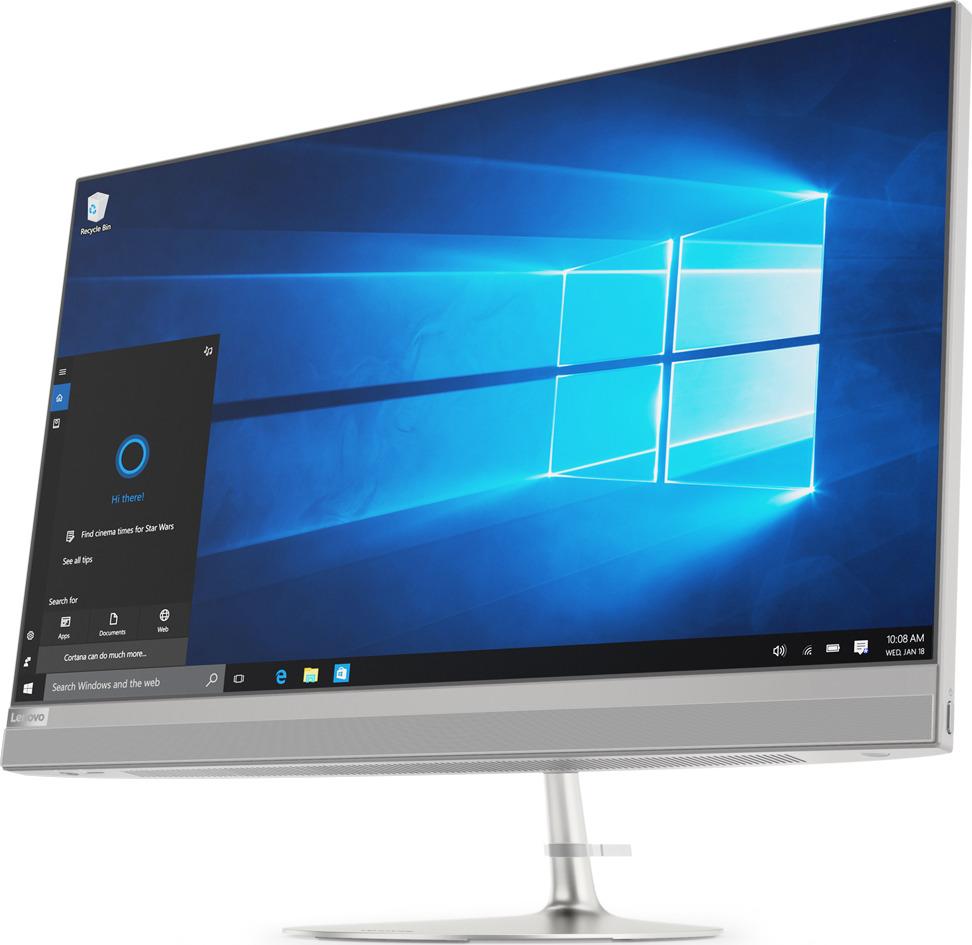 Моноблок Lenovo IdeaCentre AIO 520-27ICB, белый (F0DE004LRK) моноблок lenovo 520 27icb 505513 silver
