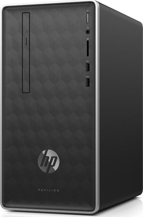 Системный блок HP Pavilion 590-a0004ur, 4KC63EA, черный лампа светодиодная camelion led3 g45 845 е27 3вт 220в е27