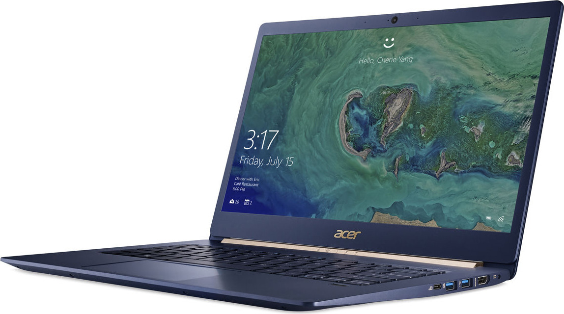 "фото Ноутбук Acer Swift 5 SF514-53T, NX.H7HER.003, 14"", голубой"
