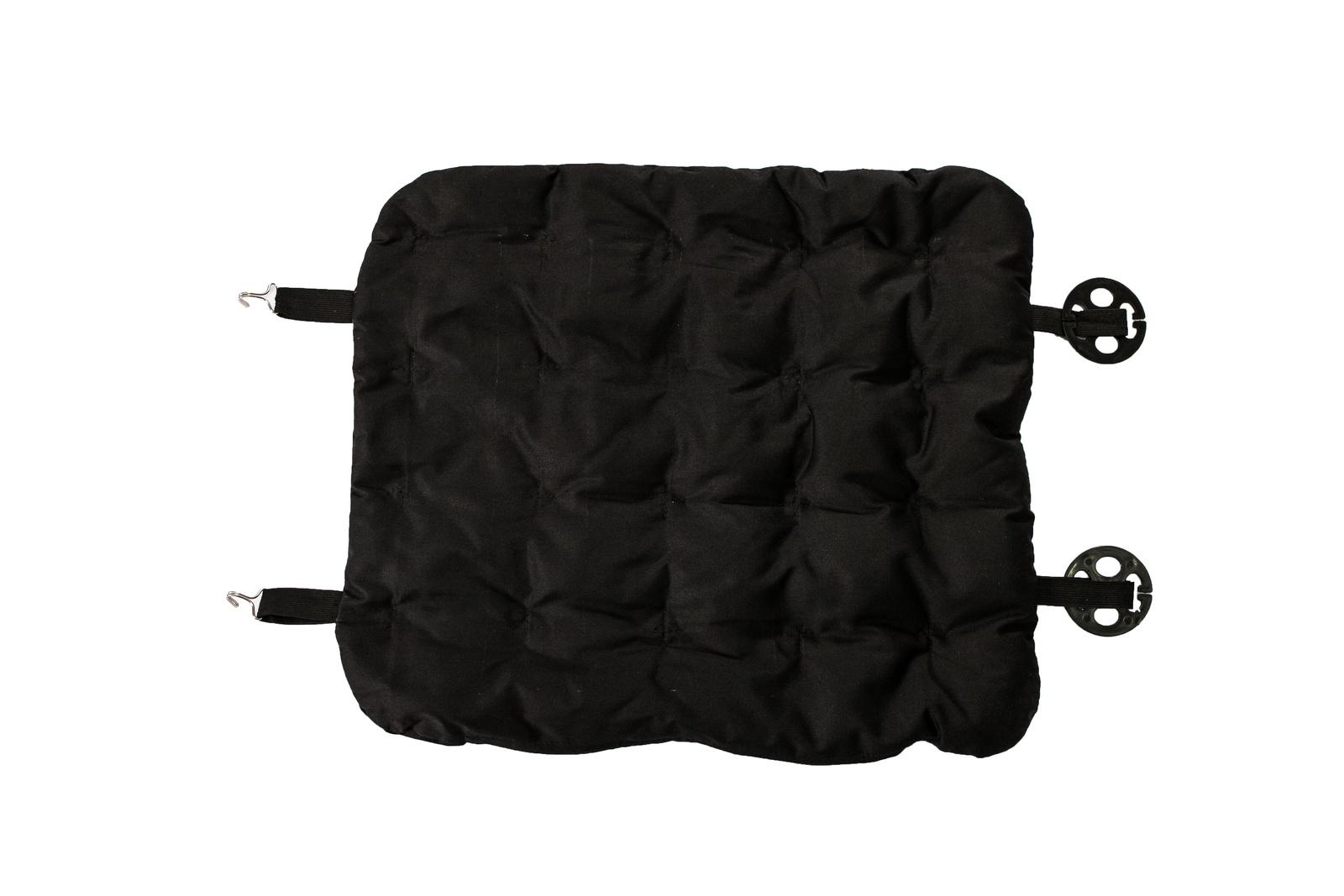 Ортопедическая подушка, наполнитель гречиха на сиденье Био, AvtoTink, черный