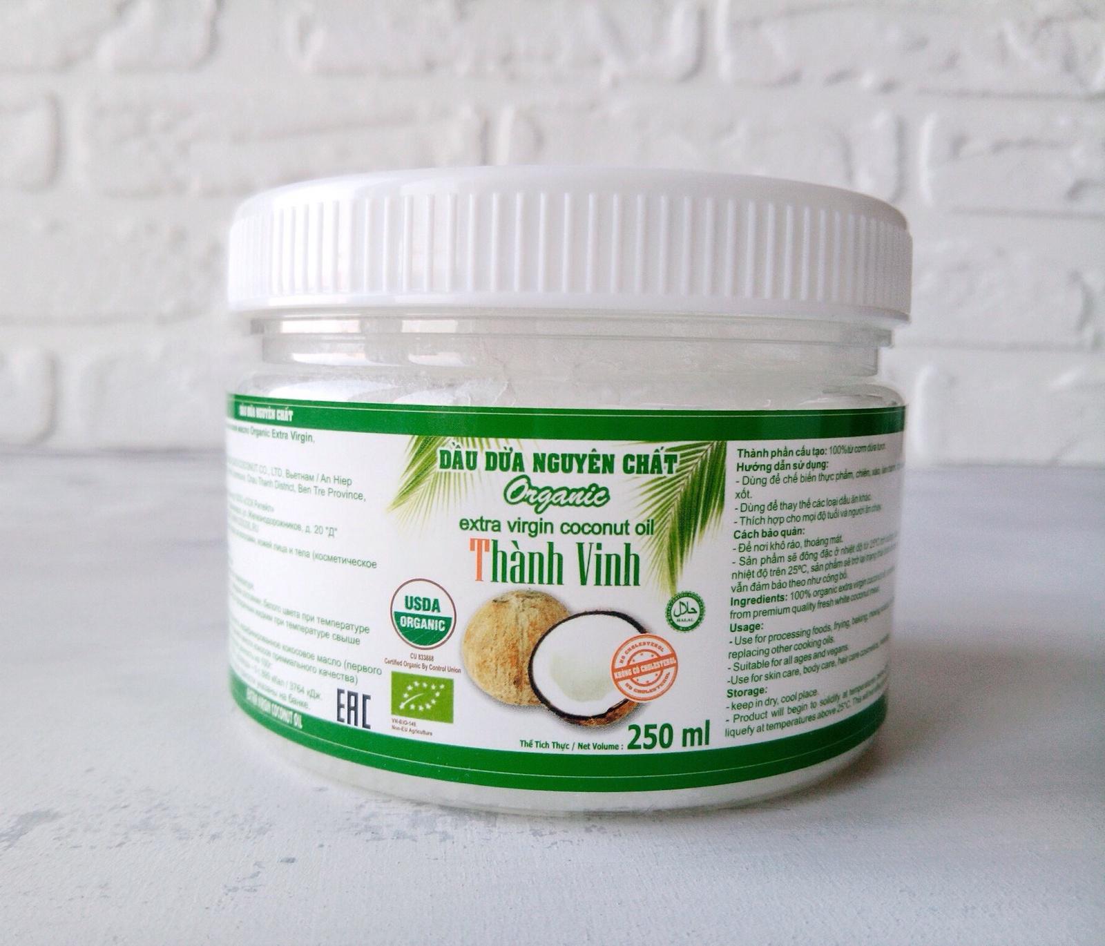 Масло косметическое Thanh Vinh Кокосовое масло натуральное Organic Extra Virgin, нерафинированное, холодного отжима, 250 мл alterna натуральное масло kendi для интенсивного ухода за волосами bamboo smooth 50 мл