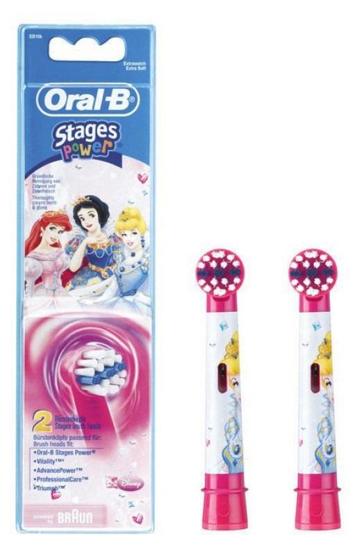 Насадка для электрической зубной щетки Oral-B Stages Kids, 01.042-3, розовый сменные насадки для зубной щетки kids stages power oral b 2 шт